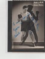 .BOXING.BOKSEN. PHOTO. Lansival   BOXEUR   André JAN  Manager Peltiez Signée - Boxing