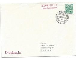 """244 - 22 - Enveloppe Avec Oblit Spéciale """"Zürich 1 Linth-Eschergasse 1937"""" - Marcophilie"""