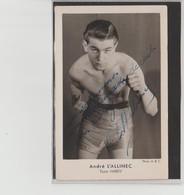 .BOXING.BOKSEN. PHOTO. ABC  BOXEUR   André L' ALLINEC  Team Hardy  Signée - Boxing