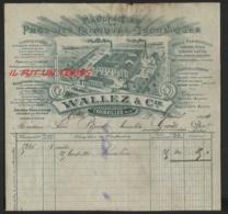TROISVILLE  - 1904 - WALLEZ & Cie - Manufacture Produits Chimiques Techniques - France