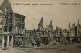 Militair // Leuven - Louvain / Après Bombardement - Vieux Marche (Cote Gauche) 19?? - Leuven