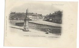 Ardennes LE CHESNE La Croix Et La Rue De Bairon Précurseur ......G - Le Chesne