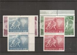 Coupe Du Monde Au Chili -1962 ( 295/296 + PA 210/211 En Paires XXX -MNH- Du Chili) - 1962 – Chile