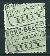 TR 253 In Paar Gestempeld NORD BELGE - HUY - Nord Belge