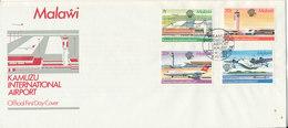 Malawi FDC 31-8-1983 Kamuzu International Airport Complete Set Of 4 With Cachet - Malawi (1964-...)