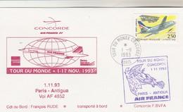 Avion CONCORDE F BVFA - Tour Du Monde 1 Au 17/11/1993 - PARIS ANTIGUA 1/11/1993 - Concorde