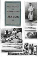 Morocco LOT X 12 Vintage C1940s Real Photo Postcards Scenes And People, MAROC SCENES Et TYPES CPA RPPC - Morocco