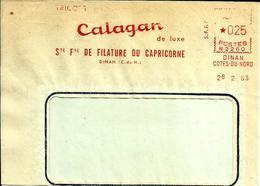 EMA Secap N   Calagan Tricot Filature Du Capricorne Textile 22 Dinan  C2/35 - Marcophilie (Lettres)