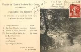 25 - BESANCON - MUSIQUE DE L'ECOLE D'ARTILLERIE DU 7e CORPS - PROGRAMME DES CONCERTS - Besancon