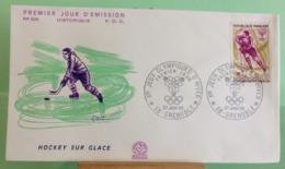 Hockey Sur Glace, Ouverture Des Jeux(n°626) - 38 Grenoble - 27.1.1968 -FDC 1er Jour - Coté 1,50€ - 1960-1969