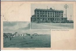 CESENATICO GRAND HOTEL E SPIAGGIA - CARTOLINA SPEDITA NEL 1918 - Autres Villes