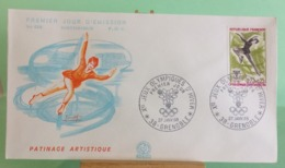 Patinage Artistique, Ouverture Des Jeux(n°628) - 38 Grenoble - 27.1.1968 -FDC 1er Jour - Coté 1,50€ - 1960-1969