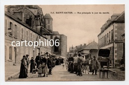 - CPA SAINT-SATUR (18) - Rue Principale Le Jour Du Marché (belle Animation) - Editions Gouttefangeas 515 - - Saint-Satur