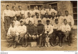 CARENTAN Soldats Du 25e Régiment D'Artillerie En 1917  4eme  Pièce.Carte Photo - Carentan