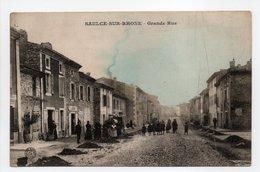 - CPA SAULCE-SUR-RHONE (26) - Grande Rue (avec Personnages) - Photo BAUER MARCHET - - France