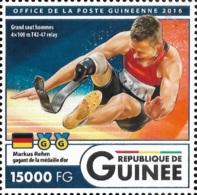 Guinee Markus Rehm Paralympic Handicap Disabled 1v Stamp Michel:12142 - Célébrités