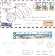 TAAF TERRE ADELIE LOT DE 10 ENVELOPPES DE 1973 A 1976 - Tierras Australes Y Antárticas Francesas (TAAF)