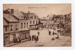 - CPA LIEUREY (27) - La Place 1920 (belle Animation) - Edition Thuillier - - France