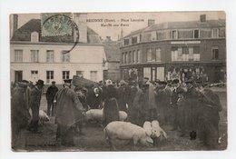 - CPA BRIONNE (27) - Place Lorraine 1906 - Marché Aux Porcs (belle Animation) - Edition A. Acard - - France
