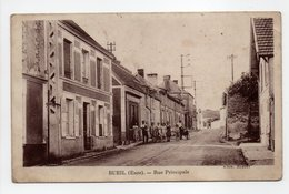- CPA BUEIL (27) - Rue Principale 1933 (avec Personnages) - Edition BASSET - - France