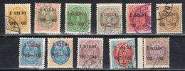 Island 24 - 34 B Gestempelt - I Gildi 1902, Weite Zähnung - Gebraucht