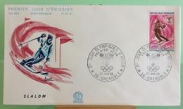 Slalom, Ouverture Des Jeux(n°629) - 38 Grenoble - 27.1.1968 -FDC 1er Jour - Coté 1,50€ - 1960-1969