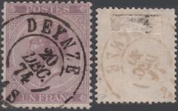 Belgique - COB # 21 Oblitération De Deynze(double Cercle) SUPERBE (RD464) DC5977 - 1865-1866 Profile Left