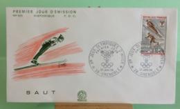 Saut, Ouverture Des Jeux(n°625) - 38 Grenoble - 27.1.1968 -FDC 1er Jour - Coté 1,50€ - 1960-1969