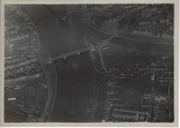RARE - WWI - Aviation Militaire - 2 Photos Originales Annotées - Vue Panoramique Liège - Aviation