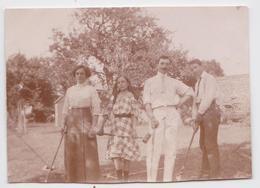 Photographie Ancienne Jeu De Croquet - Deportes