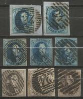 Belgique - Médaillons - Oblitérations P24 BRUXELLES Dont 18 Et 14 Barres + 8 Et 10 Barres épaisse + Griffe Encadrée - Poststempels/ Marcofilie