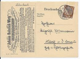 Dt.- Reich (002784) Firmenpostkarte Johann Heinrich Wirtz, Neukirchen, Gelaufen Als Drucksache Am 26.11.1936 - Briefe U. Dokumente