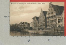 CARTOLINA VG BELGIO - GAND GENT - Quai Aux Herbes - Maisons De L'Etape Des Mesureurs Et Des Bateliers - 9 X 14 - 1907 - Gent