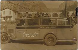 06   Nice-marceille Gorges Du Loup  1933 Carte Photo - Transport Urbain - Auto, Autobus Et Tramway