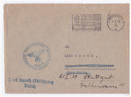 Dt.- Reich (002790) Propaganda Brief Reichsarbeitsdienst, Weibliche Jugend (BDM), Gelaufen Portofreie DS Wiesbaden - Briefe U. Dokumente