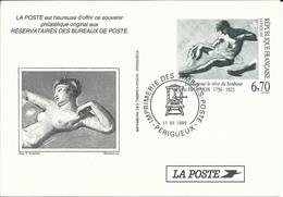 Carte Maximum , 11.12.1995 , 6.70 F , Pierre PRUD'HON , N° 2997 , Imprimerie De PERIGUEUX - 1990-99