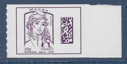 = Marianne Et La Jeunesse TVP Monde -20g Neuf DataMatrix Ciappa Et Kawena Adhésif N°1177 - 2013-... Marianne De Ciappa-Kawena