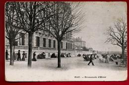 CPA Animée 64 Pau Promenade D'hiver Illustrateur Staerck - écrite 31-12-1923 - Pub Chicorée A La Ménagère Cafés ... - Pau