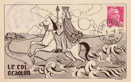 Carte Maximum - Exposition Philatélique Quimper 1948 - France