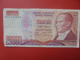 TURQUIE 20.000 LIRA 1970/88 CIRCULER (B.5) - Turkije