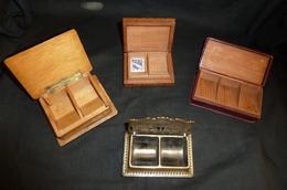 Lot De 4 Boites à Timbres Anciennes - Boites A Timbres