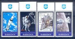C115B- Barbados 1999 30th Anniversary Of 1st Man On The Moon. Space. - Raumfahrt
