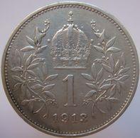 LaZooRo: Austria 1 Corona 1913 XF / UNC - Silver - Autriche