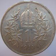 LaZooRo: Austria 1 Corona 1915 XF / UNC - Silver - Autriche