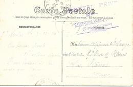 82- Cachet Hôpital Privé à St-Nicolas-de-la-Grave Sur CP En 1914 ( Annexe De L'Hôpital N°49 De Moissac) Très Rare - Guerra De 1914-18