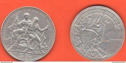 5 Franchi Francs 1883 Svizzera Schweiz Suisse Lugano Tiri Federali Shotting Festival Switzerland - Svizzera