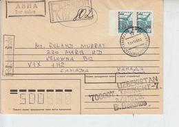 UZBEKISTAN  1996 -Yvert 12-18 -  Raccomandata Per Canada - Uzbekistan
