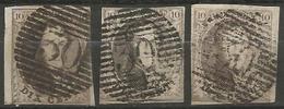 Belgique - Médaillons - Oblitérations P30 COUVIN - Postmarks - Lines: Perceptions