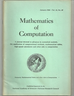 Mathematical Tables And Other Aids To Computation - Sciences