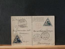 85/642  BRIEFKAART 1933  PER POSTJAGER NAAR BANDOENG - Airmail